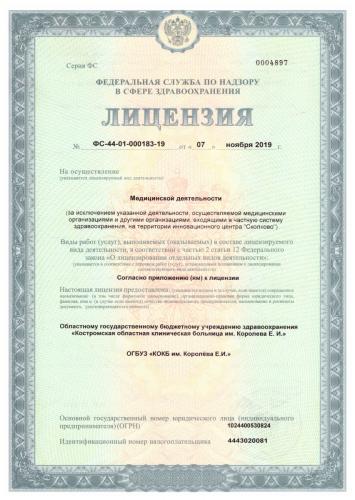 Лицензия ВМП стр. 1